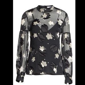 Derek Lam🔴Sheer lunes Long Sleeve blouse 6
